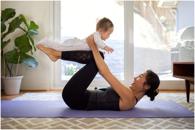 Doing Yoga At Home With Help From Glo